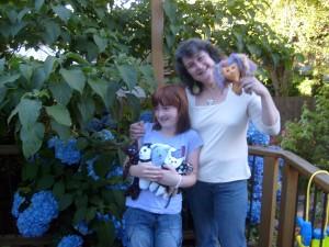 Joy & Maggie play dolls