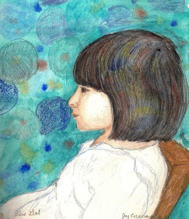 blue girl 300