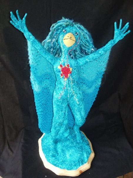 blue bird woman